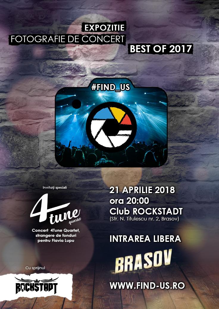 "Concert 4Tune Quartet, muzica clasica si rock, la expozitia caritabila organizata de ""#Find_us"""